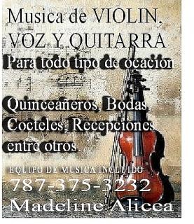 Música de Violín, Voz y Guitarra