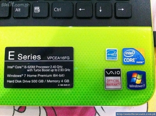 SONY VAIO E SERIES ( LIME GREEN)