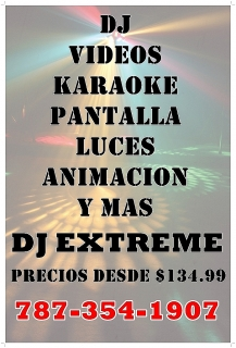 DJ-VIDEOS-KARAOKE-LUCES-PANTALLA 787-354-1907