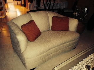 Sofa Loveseat con 2 Butacas