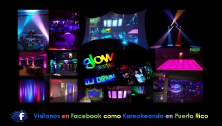 DJ,LUCES,GLOW PARTY,80S,AMBIENTACION,PANTALLA,VIDEO,KARAOKE