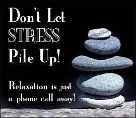Dont let stress pile up, relaxing stress relief massage