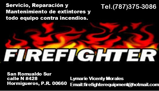 venta y servicio de extintores fire fighter equipment