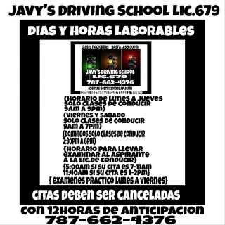 Javy' s Driving School Lic.679 (787-662-4376)