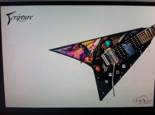 Flying v Scripture guitars