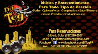 disc jockey, musica, luces para fiestas en Barceloneta por DJ Teg Entertainment