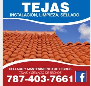 TEJAS Y SELLADO DE TECHOS