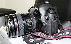 Canon EOS 5D Mark III 22.3MP Digital SLR com lente 24-105 mm