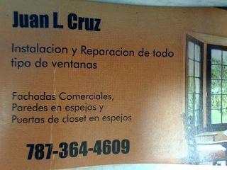 Venta reparacion e instalacion Puertas Ventanas Cristales