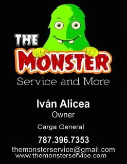 The Monster Service and More( recogido y/o entrega mercancia)