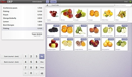 Point of Sale Touch Screen Odoo 8