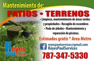 Patios / Terrenos limpieza/mantenimiento