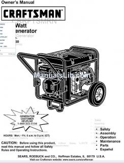 Generador CRAFTMAN 1202/240 v 6000 C-A
