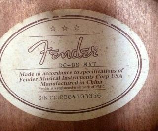 FENDER DG8s Acústica