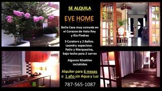 SE ALQUILA BELLA CASA  EVE HOME