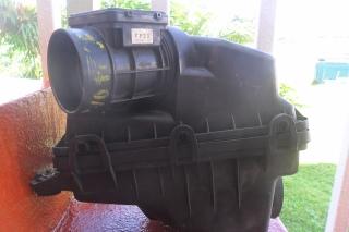 base de filtro con el flow meter de protege