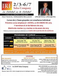 Clases de Salsa con Dicky Colon Ire2/3-6/7 Salsa Company