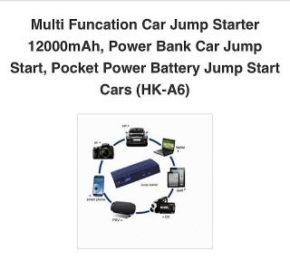 Emergency Charger Jumper 16500mAh