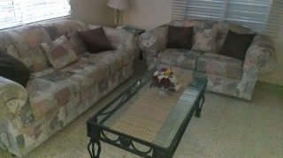 Juego de sala, incluye sofa y love seat