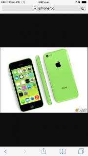 iPhone 5c verde chatre de AT&T