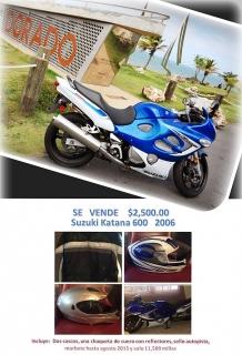 Se Vende $2500 Suzuki Katana 600 Año 2006