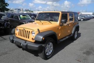 Jeep Wrangler Unlimited Sport Anaranjado 2012