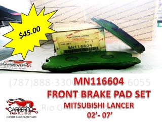 MN116604 MIT. LANCER 02-07 BRAKE PAD SET FRONT
