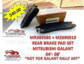 MR389580 = MZ690010 MIT. GALANT 04-08  BRAKE PADS SET REAR