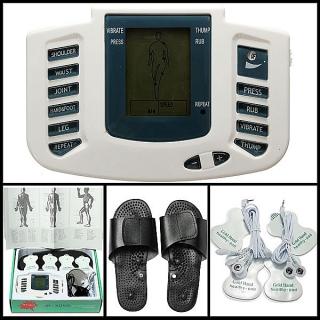 Digital Estimulador Masajeador De Cuerpo Completo Relax Pulso Acupuntura Terapia & Slipper
