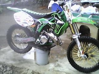 Kawasaki  kx de 1999, plasticos de 2001