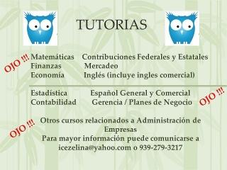 Tutorias y Trabajos Universitarios / Proyectos Empresariales
