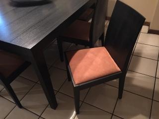Juego de comedor cuadrado de 8 sillas