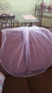 Traje de novia con enagua y velo/talla #4