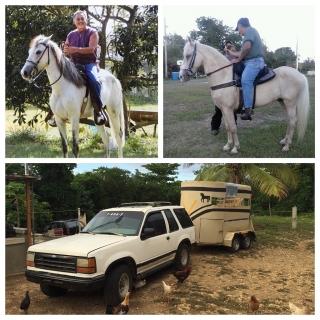 Venta de guagua Ford explore del 93 con carretón de 2 caballo y 2 caballo