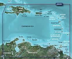 Carta Nautica Garmin BlueChart G2 Vision VUS030R-Southeast Caribbean