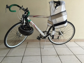 Road Bicycle with helmet