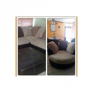 Se vendé muebles en L, crema y brown