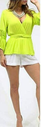 Blusa Lindisima en Verde! Cautiva la Atención!