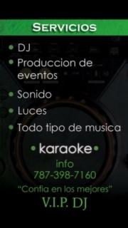 VIP DJ SERVICIO DE DJ,KAREOKE