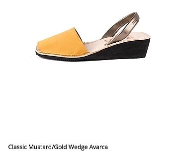 Classic Mustard/ Gold Wedge Avarcas