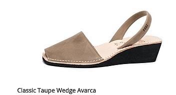 Classic Taupe Wedge Avarca