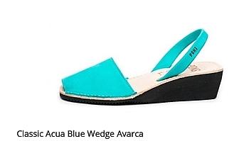 Classic Acua Blue wedge Avarca