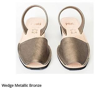 Wedge Metallic Bronze