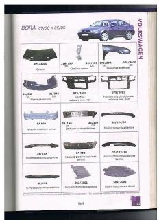 Bumpers delanteros, lips, baretas, covers, guías, parrillas y  barras de Volkswagen