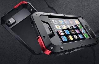 Cover Rojo Y Negro Waterproof para Iphone 4/4s y 5.