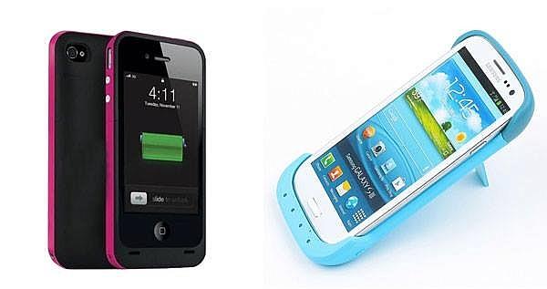 Covers recargables para teléfonos Iphones 4/4s / 5 y Galaxy S3