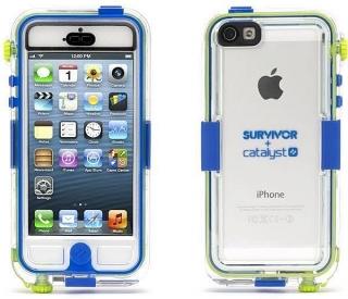 Cover Survivor transparente/Azul a prueba de agua para Iphone