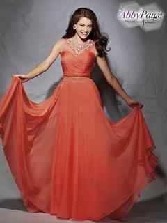 Red Coral Chiffon Dress