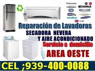 Reparaciones de lavadora secadora nevera