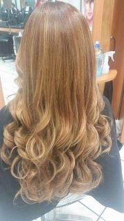 estenciones de cabello